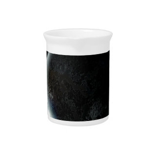 black planet 3d illustration in the universe pitcher
