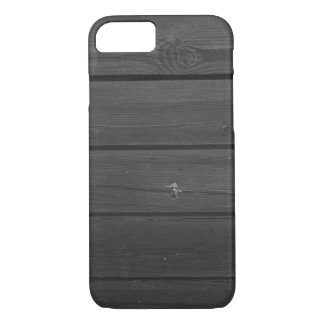 Black plank wall iPhone 7 case
