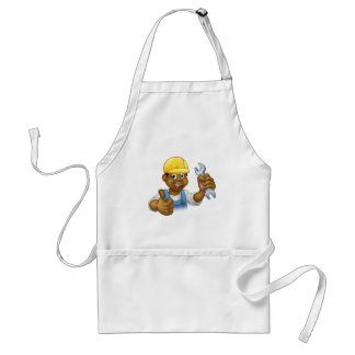Black Plumber Mechanic or Handyman Standard Apron