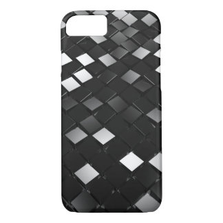 Black Pointy Cubes iPhone 8/7 Case