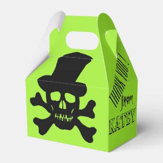 Black Poison Skull and Crossbones Favor Boxes Party Favour Boxes