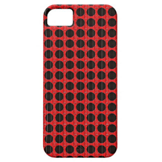 BLACK POKA DOT RED AND BLACK iPhone 5 CASES