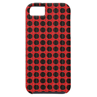 BLACK POKA DOT RED AND BLACK iPhone 5 COVER