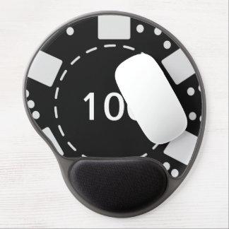 Black Poker Chip Gel Mouse Pad