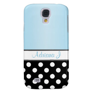 Black Polka Dot Blue HTC Vivid Case