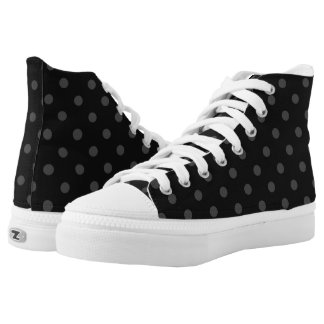 Black Polka Dot High Top ZIPZ®