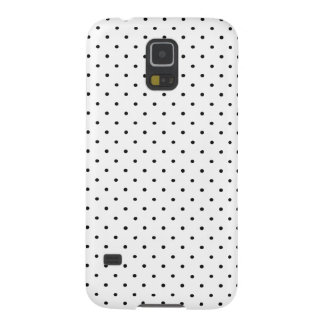 Black polka dot on white background galaxy s5 covers