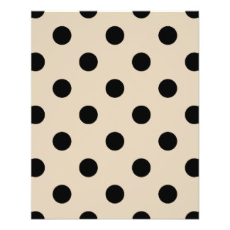 Black Polka Dot Pattern - Tan 11.5 Cm X 14 Cm Flyer