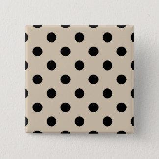 Black Polka Dot Pattern - Tan 15 Cm Square Badge