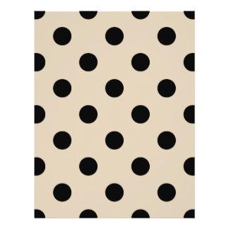 Black Polka Dot Pattern - Tan 21.5 Cm X 28 Cm Flyer