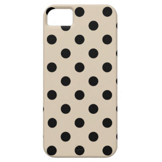 Black Polka Dot Pattern - Tan Barely There iPhone 5 Case