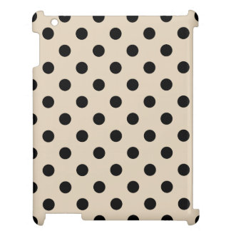 Black Polka Dot Pattern - Tan Case For The iPad 2 3 4