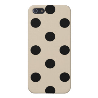 Black Polka Dot Pattern - Tan Case For The iPhone 5