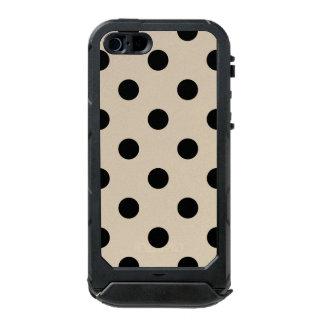 Black Polka Dot Pattern - Tan Incipio ATLAS ID™ iPhone 5 Case