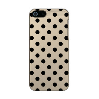 Black Polka Dot Pattern - Tan Incipio Feather® Shine iPhone 5 Case