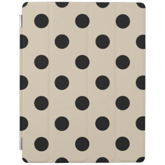 Black Polka Dot Pattern - Tan iPad Cover