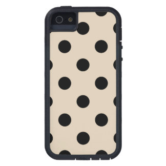 Black Polka Dot Pattern - Tan iPhone 5 Covers