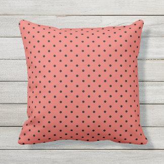 Black Polka Dot You Choose Background Color Pillow