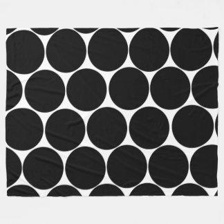 Black Polka Dots Blanket