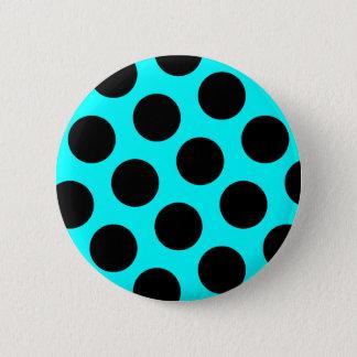 Black Polka Dots Button