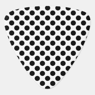 Black Polka Dots Guitar Pick