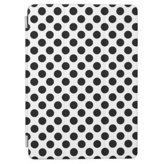 Black Polka Dots iPad Air Cover