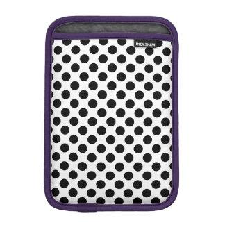 Black Polka Dots iPad Mini Sleeve