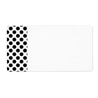 Black Polka Dots Label
