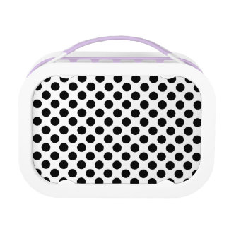 Black Polka Dots Lunch Box