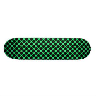 Black Polka Dots On Kiwi Green 21.6 Cm Old School Skateboard Deck