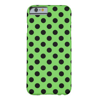 Black polka dots on lime green barely there iPhone 6 case