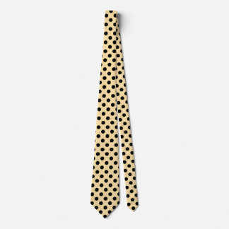 Black polka dots on pale yellow tie