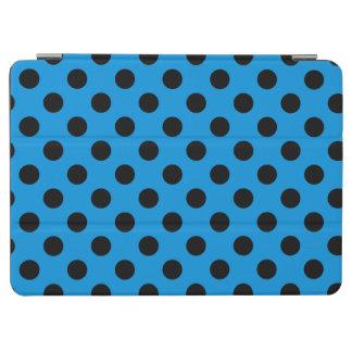 Black polka dots on sky blue iPad air cover
