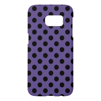 Black polka dots on ultra violet