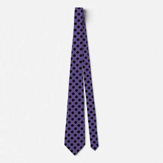 Black polka dots on ultra violet tie