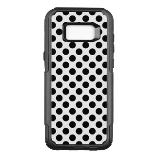 Black Polka Dots OtterBox Commuter Samsung Galaxy S8+ Case