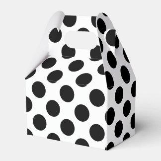 Black Polka Dots Party Favour Boxes