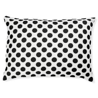 Black Polka Dots Pet Bed