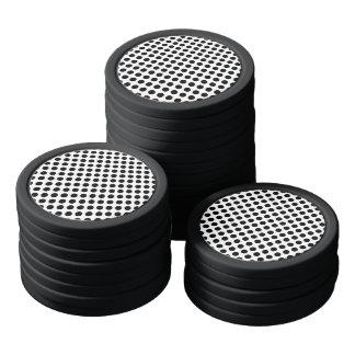 Black Polka Dots Poker Chips