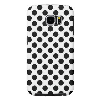 Black Polka Dots Samsung Galaxy S6 Cases