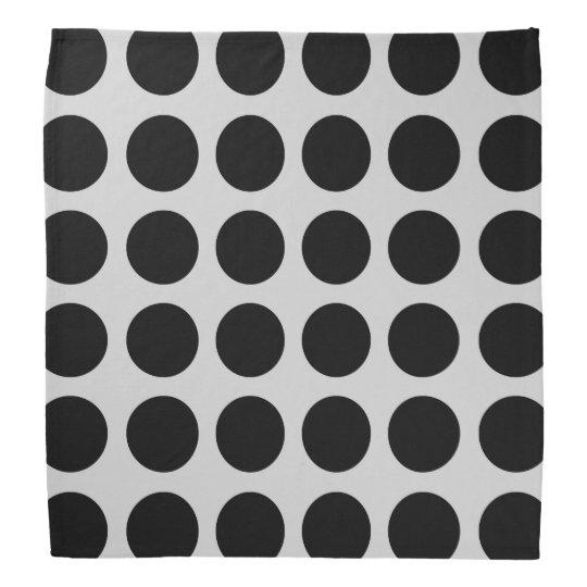 Black Polka Dots Silver Bandana