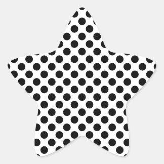 Black Polka Dots Star Sticker