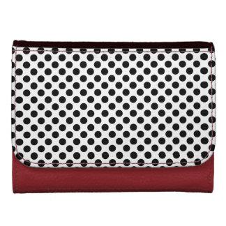 black polka dots wallet