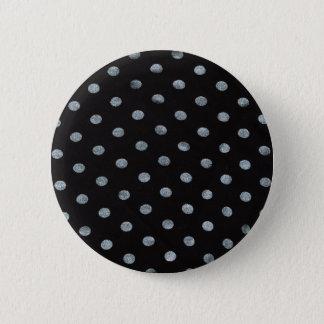 Black Polkadot Badge/Button 6 Cm Round Badge