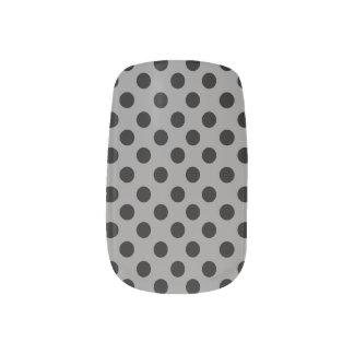 Black Polkadot Minx Nails Nails Sticker
