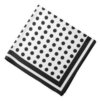 black polkadots, elegant bandana