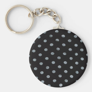 Black Polkadots Keychain