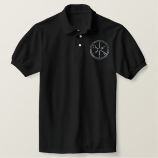 Black polo with grey MCPA embroidered logo