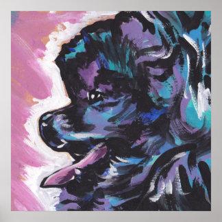 Black Pomeranian Pop Art Poster Print
