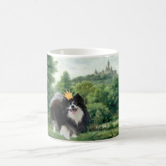 Black Pomeranian Prince Coffee Mug